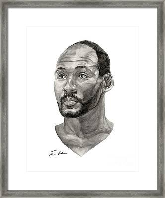 Karl Malone Framed Print by Tamir Barkan