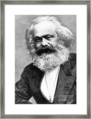 Karl Marx Framed Print by Unknown