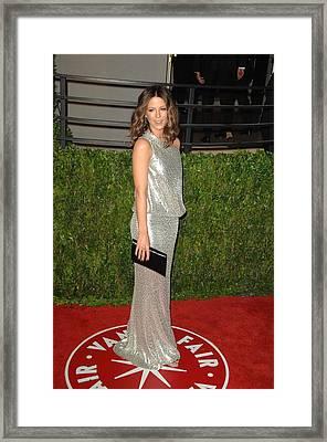 Kate Beckinsale Wearing A Kaufman Framed Print by Everett