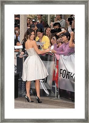 Kate Beckinsale Wearing An Elie Saab Framed Print by Everett