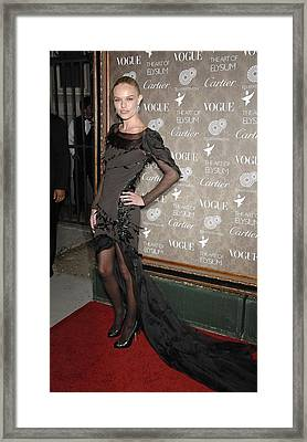 Kate Bosworth Wearing A Nina Ricci Gown Framed Print by Everett