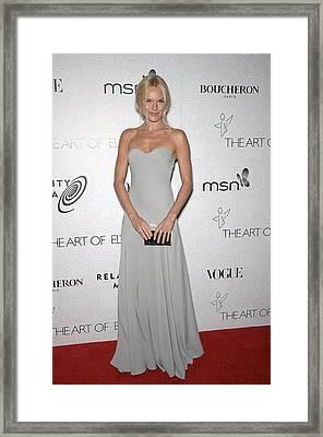 Kate Bosworth Wearing An Alexander Framed Print by Everett