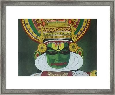Kathakali Framed Print by Shashi Kumar