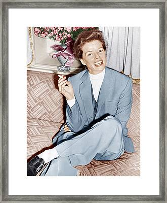 Katharine Hepburn In England, Ca. 1952 Framed Print by Everett