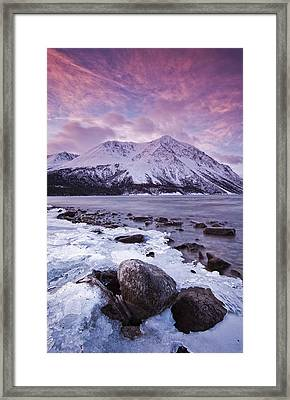 Kathleen Lake At Sunrise, Kluane Framed Print by Robert Postma