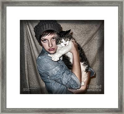 Katie And Tj Framed Print by Joan  Minchak