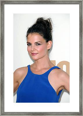 Katie Holmes At Arrivals For The 63rd Framed Print by Everett