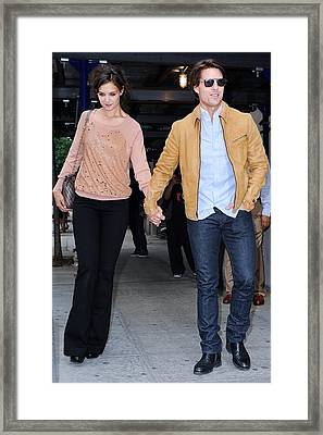 Katie Holmes, Tom Cruise, Leave Framed Print by Everett