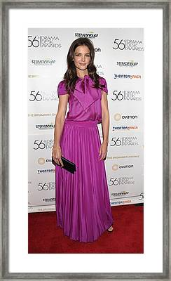 Katie Holmes Wearing A Holmes & Yang Framed Print by Everett