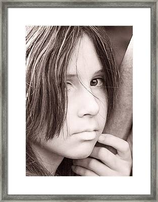 Katie Framed Print by Terry Finegan