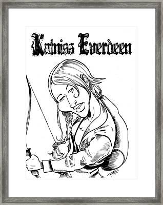 Katniss Everdeen Framed Print by Big Mike Roate