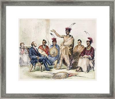 Kaw Delegation, 1857 Framed Print by Granger