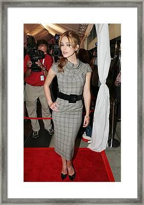 Keira Knightley Wearing A Roland Mouret Framed Print by Everett