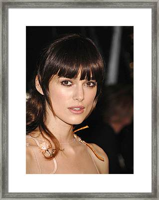 Keira Knightly At Arrivals For Los Framed Print by Everett