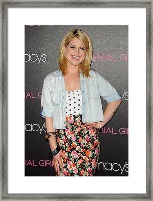 Kelly Osbourne At In-store Appearance Framed Print by Everett
