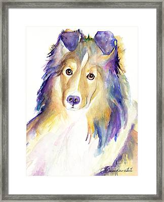 Kelly Framed Print by Pat Saunders-White