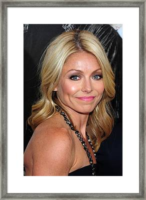 Kelly Ripa At Arrivals For Cop Out Framed Print by Everett