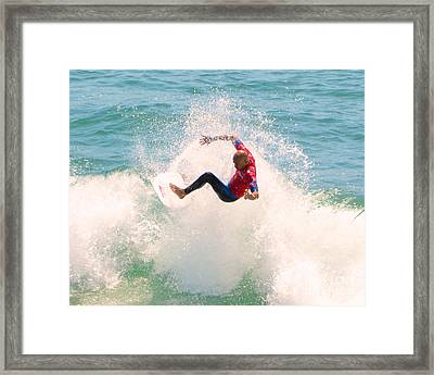 Kelly Slater Us Open Of Surfing 2012     6 Framed Print by Jason Waugh