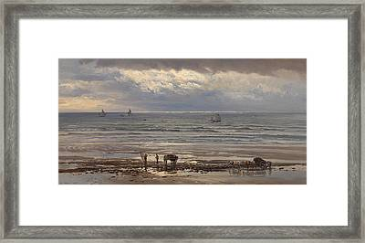Kelp Gatherers Framed Print by Henry Moore