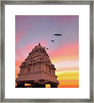 Kempegowda Tower - Lal Bagh, Bangalore Framed Print by Joseph riBin rOy