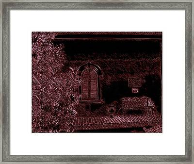 Kenner Bench Framed Print by Marian Hebert