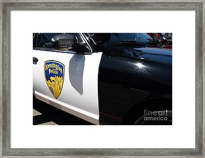 Kensington California Police Car . 7d15876 Framed Print by Wingsdomain Art and Photography