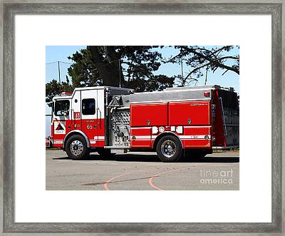 Kensington Fire District Fire Engine . 7d15854 Framed Print by Wingsdomain Art and Photography