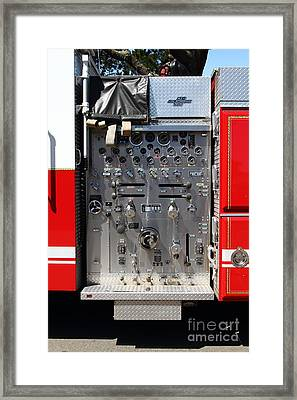 Kensington Fire District Fire Engine Control Panel . 7d15856 Framed Print by Wingsdomain Art and Photography