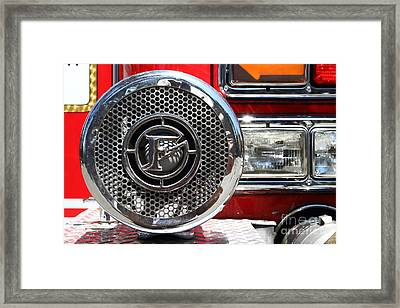 Kensington Fire District Fire Engine Siren . 7d15880 Framed Print by Wingsdomain Art and Photography