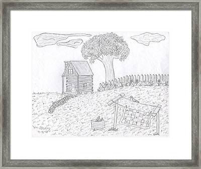 Kentucky Cabin Framed Print by Stacy Thornberry