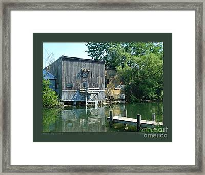 Keuka Lake Outlet-ii Framed Print by Patricia Overmoyer