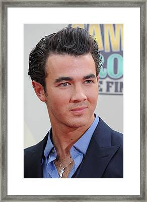 Kevin Jonas At Arrivals For Camp Rock 2 Framed Print by Everett