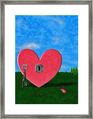 Key To My Heart Framed Print by Jeff Kolker