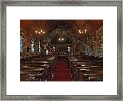 Kilmore Church Dervaig Framed Print by Steve Watson