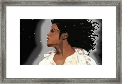 King Of Pop King Of The Universe Framed Print by Diva Jackson