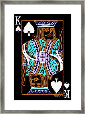 King Of Spades Framed Print by Wingsdomain Art and Photography