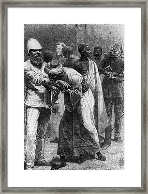 King Riouga And Samuel Baker, 1869 Framed Print by Photo Researchers