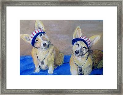 Kipper And Tristan Framed Print by Trudy Morris