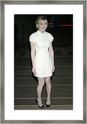 Kirsten Dunst Wearing A Miu Miu Dress Framed Print by Everett