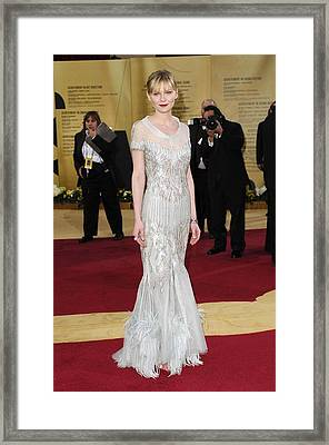 Kirsten Dunst Wearing Chanel Haute Framed Print by Everett