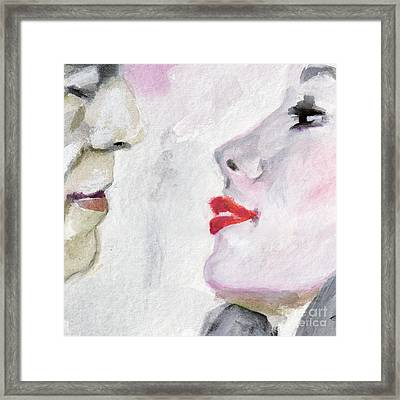 Kiss Me  Framed Print by Ginette Callaway