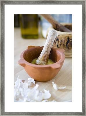 Kitchen Still Life Framed Print by Frank Tschakert