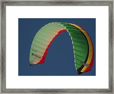 Kite Boarding Sail Framed Print by Carolyn Olney