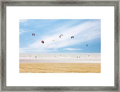 Kiteboarder Paradise Framed Print by Richard Newstead