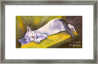 Kitten Dream Framed Print by Susan A Becker