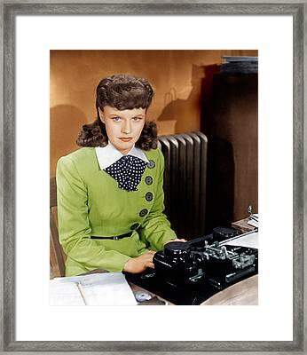 Kitty Foyle, Ginger Rogers, 1940 Framed Print by Everett