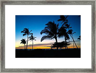 Ko Olina Lagoon 4 Sunset Framed Print by Eddie Freeman
