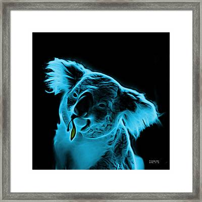 Koala Pop Art - Cyan Framed Print by James Ahn