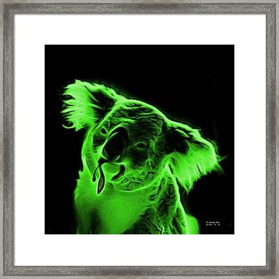 Koala Pop Art - Green Framed Print by James Ahn