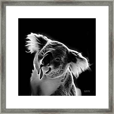 Koala Pop Art - Greyscale Framed Print by James Ahn